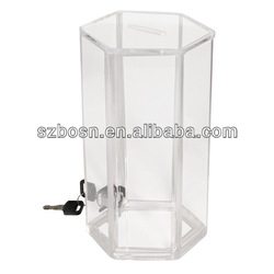 Cylinder Shaped Coin Collection Box