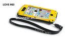 Dirtproof Waterproof Shockproof Love Mei Metal Aluminum Case For Iphone 5 5S+ Gorilla Glass