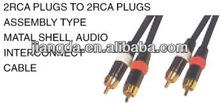 High quality metal shell interconnect audio cable vga rca