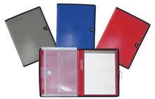 pu folder with memo pad /pen set /ruler with metal clip