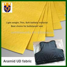 Aramid UD fabric bulletproof material for body armor