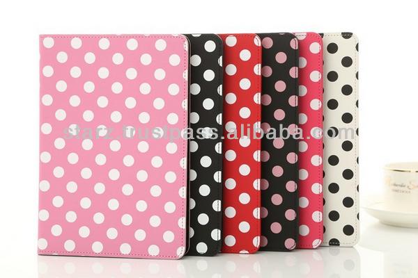 PU Polka Dot Leather Case For iPad mini 2
