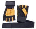Noir et jaune couleur Gym haltérophilie gants