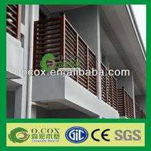 Wood Plastic Composite WPC Railings For Veranda