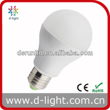 5W E27 A60 Aluminum Egg shaped 180 Degree GLS Global LED Lamp with CE ROHS Approved