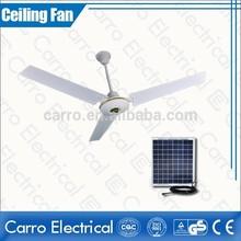 Foshan Carro 22w 300RPM ceiling fan ac dc doubel use solar fancy ceiling fan