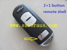 key cover for Mazda 2+1 button smart key keyless entry remote fob (MAZ24R keyway)
