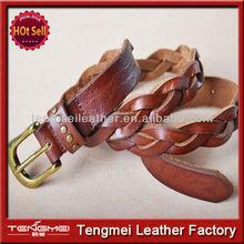 2014 Newest Design High Quality Full Grain Leather Belt For Women