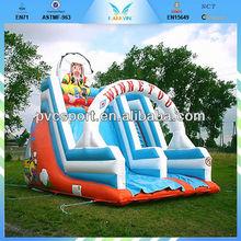 Commercial inflatable wet dry slid,Outdoor slide,hot sale inflatable slide