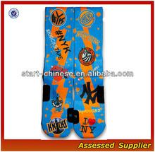 Wholesale New York Custom Elite Basketball Socks/Wholesale Sublimated Elite Basketball Blank Sport Socks Shell109