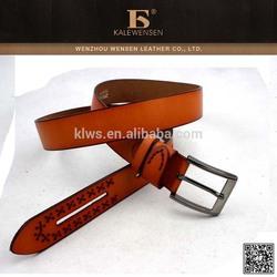 latest design wholesale wide leather belt strap