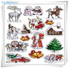 3D Beautiful Christmas double-deck Sticker Decoration
