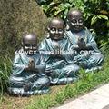 fiberstone laughing buddha estátuas para a decoração do jardim