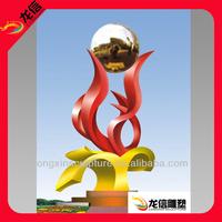 Large Metal Spheres _ Outdoor Large Metal Flowers _ Modern Stainless Steel Sculpture