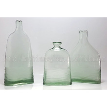 Clear Green Glass Jar, Vase, Pitcher, Decanter
