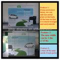2.4m roll up banner stand roll up retrátil tela verde