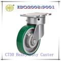 super heay derecho pu industriales de rotación del eslabón giratorio ruedas o ruedas de ricino