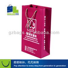 high quality printed pink paper shopping bag