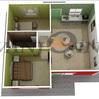 Economic easy assemble light steel 2 bedroom prefab modular home