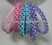 dot printing elastic hair band/bungee hair tie/hair loop