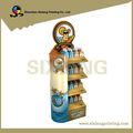 4 color de impresión al por menor tienda de cartón colgante de exhibición de embalaje