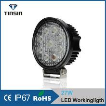 LED BULB 27W flood /round car led light For Offroad,Tractor,Truck,UTV,ATV