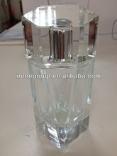 75ml glass perfume bottle with crystal cap one set