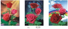 Wall hanging decorative romantic red rose 3d flip wall painting