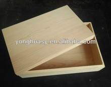 Custom made pine wood gift box