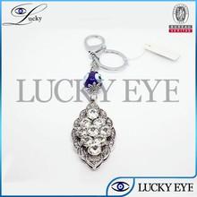 2014 fashion evil eye hamsa sex butterful mobile phone key chain for girls