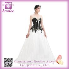Decorative Sexy Waist Training Mermaid Corset Open Back Wedding Dress