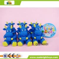 8CM plastic toy milk cow