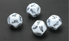 polyhedral 12-side sex Dice with custom logo printing