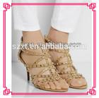 fashion studs shoe new design ladies summer high heel sandals XTS14021802