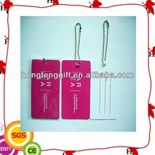 high quality pvc luggage tags for travel