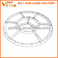 New exhibition concert entertainment aluminum stage curved truss