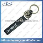 custom hurley ball metal genuine leather key chain