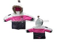 3M fancy stylish girls ski jacket with fur hood