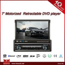 "7 inch motorized retractable DVD player RDS DAB bluetooth RCA USD SD AUX MP3 touch screen 6.5"" car dvd gps for hyundai sonata"