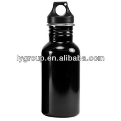 Eco-Friendly Wide Mouth 500 mL Stainless Steel Shiny Black Water Bottle -