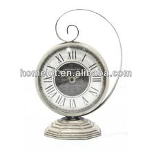 Metal Decorative Table Clock Metal Desk Clock Antique Small Clock