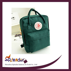 2014 new design army green letter pattern backpacks fashion canvas backpack