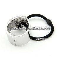 Hydraulic Silver Color Metal Ponytail Alloy Hair band hair hoop