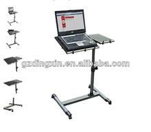 Rolling Laptop Table W/ Tilltable Tabletop Overbed Desk TV Food Tray Hospital PC (DX-BJ10)