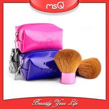 MSQ Multi-color Goat Hair Kabuki Cosmetic Brush Roll Bag