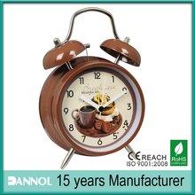 Guangzhou ROHS CE home decor 4inch coffee table alarm clock desk clock