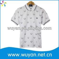 dotted printing men polo shirt /oem men's polo shirts/wholesale cotton jersey polo shirt men