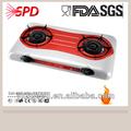 Alta classe vermelho 2 queima de fogão a gás com ce para venda barato( 6102- r)