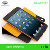 Orange PU 360 Bracket series for ipad mini rotation case.rotate case for ipad mini