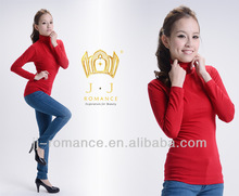 Red Womens Fitted Sweater Tight Fit Tops With Collagen Fiber